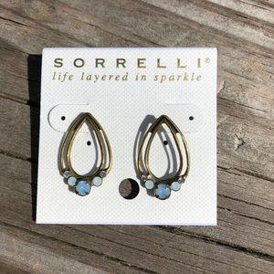 Sorrelli Teardrop Earrings with Blue Gems